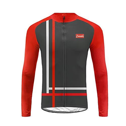 Uglyforg Herren Winter Thermal Fahrradbekleidung Trikots & Shirts Radtrikot Langarm Winddicht Herren Thermische Fleece Fahrradjacke HDELJDT03 -