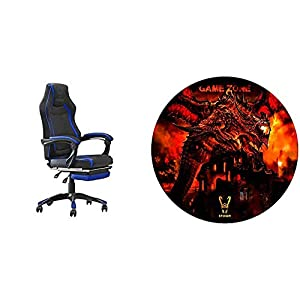 WOXTER Stinger Station RX Blue – Silla Gaming + Alfombrilla Gaming de Suelo