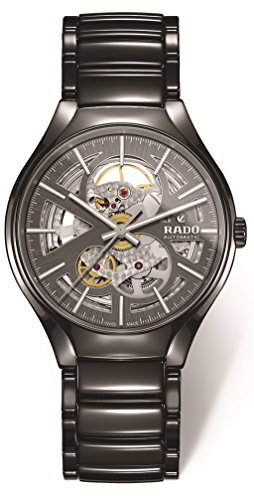 Rado True Open Heart Homme 40mm Gris Automatique Montre R27100112