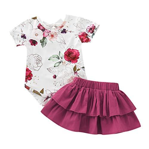 JiaMeng - Bebé Monos - Estampado Floral - niña - JMTZ039
