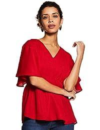 Amazon Brand - Eden & Ivy Women's Plain Regular Fit Shirt