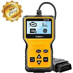 OBD2 Scanner Auto Diagnostic Lire et Effacer le Code de Défaut du Véhicule, Batterie Diagnostique Outil, Supprimer le Pilote de Code D'erreur Diagnostic Scanner Pour Les Véhicules à Partir De 2000