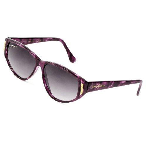 Lady Klar Grau Objektiv Metall Detail Burgund Kunststoff Single Brücken Sonnenbrillen Brillen
