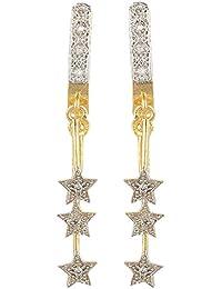 SKN Gold & Silver Metal Dangle & Drop Earrings For Women & Girls (SKN-3221)