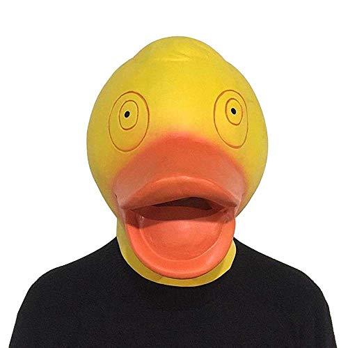Gruselige Und Kostüm Niedliche - OYWNF Niedliche kleine gelbe Enten-Tiermasken-Maskerade-Enten-Masken-Stangen-Tanz-Stützen (Color : Yellow, Size : One Size)