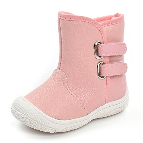 Matt Keely Baby Jungen Mädchen Schneestiefel Kleinkind Winter warme Schuhe Pink 21 EU