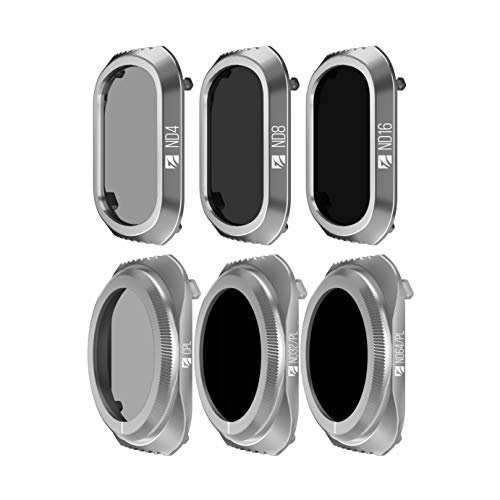 Freewell Budget Kit - E-Serie - 6er Pack ND4, ND8, ND16, Cpl, ND32/PL, ND64/PL Kameralinsenfilter kompatibel mit DJI Mavic 2 PRO Drone