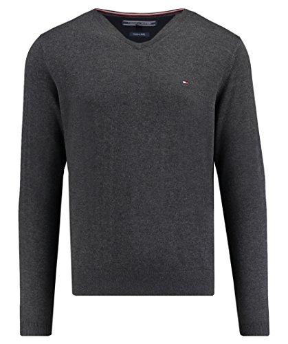 Tommy Hilfiger Herren Pullover Core Cotton-Silk Vneck, Grau (Charcoal Htr 093), XX-Large
