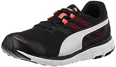 Puma Men's Poseidonv2 Black, White, Red Blast and Puma Silver Running Shoes - 11 UK /India(46EU)