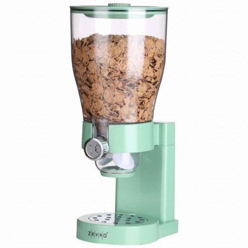 ZevrO Solo Cereal seco alimento dispensador C0227ZV / menta / gran capacidad / contenedor / desayuno
