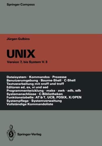 UNIX (Springer Compass) por Jürgen Gulbins
