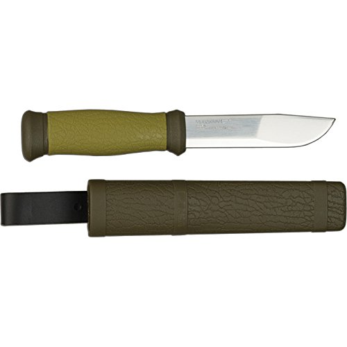 Morakniv® Outdoor 2000 - Stainless Steel - Olive Green (ID: 10629) (Frost Mora Messer)