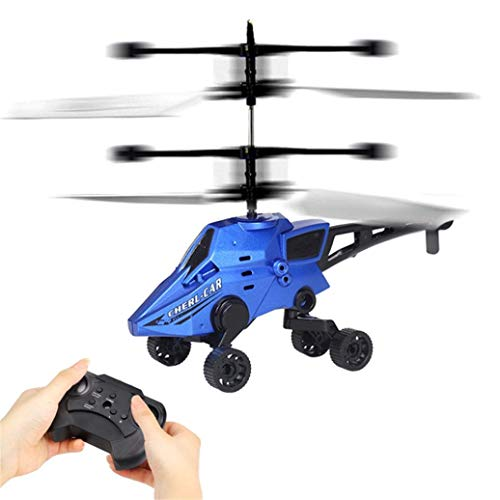 Prevently Toy Remote Control Helicopter for Car with Remote Control by 2 Channels, for children, Blue