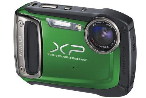 """Fujifilm FinePix XP150 - Cámara compacta de 14 MP (Pantalla de 2.7"""", Zoom óptico 5X, estabilizador de Imagen óptico, Resistente al Agua, GPS), Verde"""