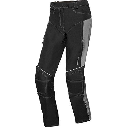 DXR Motorradhose Damen Sommer Textilhose, Verbindungsreißverschluss, Zwei Einschub-, Zwei Gesäßtaschen, Taschen für Knie- und Hüftprotektoren, Protektoren optional nachrüstbar, grau, XL