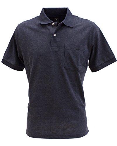 KITARO Basic Piqué Polo-Shirt in vielen Farben - S bis 8XL blue-nights melange