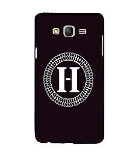 YuBingo Samsung Galaxy On7 Pro :: Samsung Galaxy On 7 Pro (2015) Designer Phone Back Case Cover ( Monogram with Beautifully Written letter H )