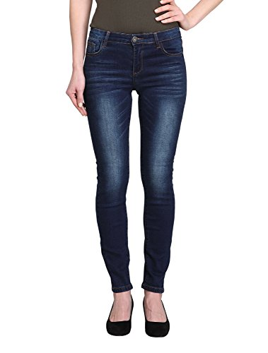 Allee Jeans Damen Jeanshose Dunkelblau Mid-Rise Knöchel Skinny Jeans (Acacia-AK), Damen, blau, 25 (Antik Denim Jeans)