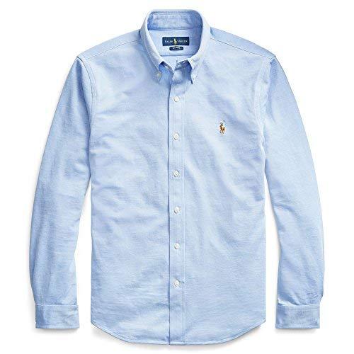 Polo ralph lauren camicia button down tessuto oxfod classic fit (l, blu)