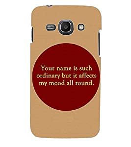 ColourCraft Quotes Back Case Cover for SAMSUNG GALAXY ACE 3