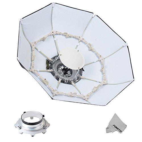 Fomito Foldable Beauty Dish Softbox mit Bowens Mount Innen Weiß (Durchmesser: 39