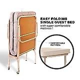 EasyRester Single Mattress - Folding Bed - Single Bed Aluminium Frame - Comfortable