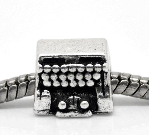 Endearing Charms Charm-Schreibmaschine Charm für Pandora/Troll Charm-Armbänder