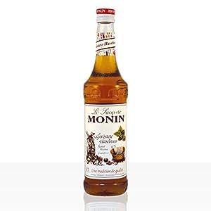 Monin geröstete Haselnuss Sirup I Aromen von Nuss und Karamell I perfekt im Kaffee, Milch oder Mocha I in der 0,7l Glasflasche