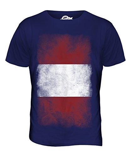 CandyMix Peru Verblichen Flagge Herren T Shirt Navy Blau
