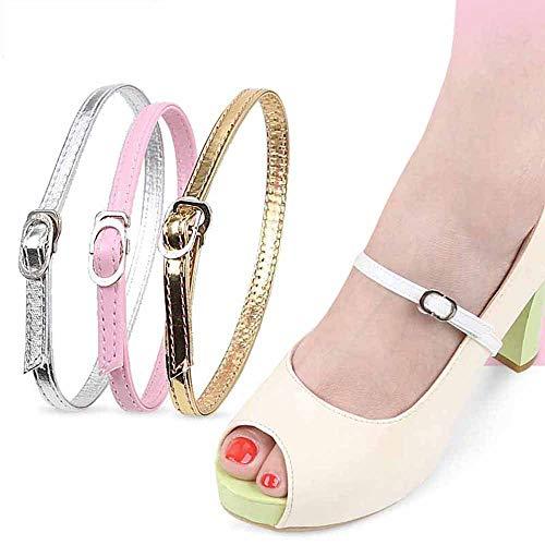DINBGUCHI (2pairs / 5pairs Stra Sangles amovibles pour femmes Sangles élastiques pour chaussures pratiques Talons hauts Anti-lâches Accessoires