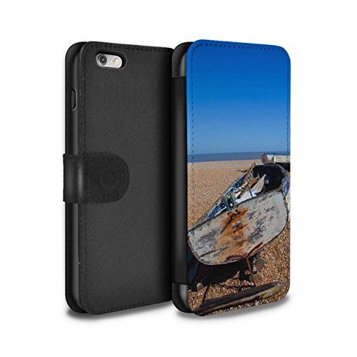 STUFF4 PU-Leder Hülle/Case/Tasche/Cover für Apple iPhone 6+/Plus 5.5 / Alte Kanone Muster / Britischen Küste Kollektion Altes Boot