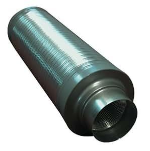 System Air Silencieux circulaire flexible pour ventilateur 125mm