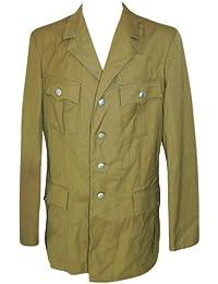 Herren Uniform Afrika Sakko Fasching Bundeswehr Safari ab Gr. 44 Khaki getragen