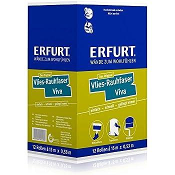 Erfurt Rauhfaser 40 Kubisch Mittel weiß (33,5 m x 0,53 m
