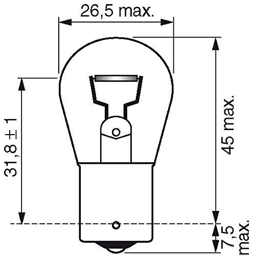 Bosch 1987301050 Autolampe P21W LONGLIFE – Stopp-/Blinklicht-/Schluss-/Kennzeichenlampe