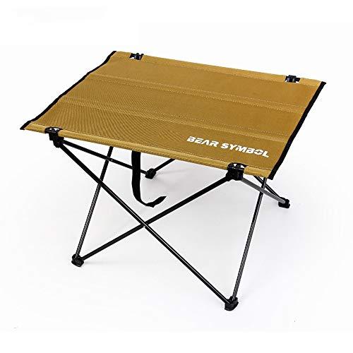 COKECO Klapptisch Campingtisch Multifunktionstisch Tragbar Tisch Für Wandern Reisen Picknick Sonstige Indoor-Outdoor Aktivitäten Kochen Leicht Zu Reinigen Gartentisch Gelb -