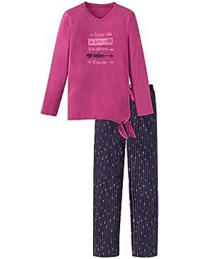 Schiesser Mädchen Zweiteiliger Schlafanzug Anzug Lang