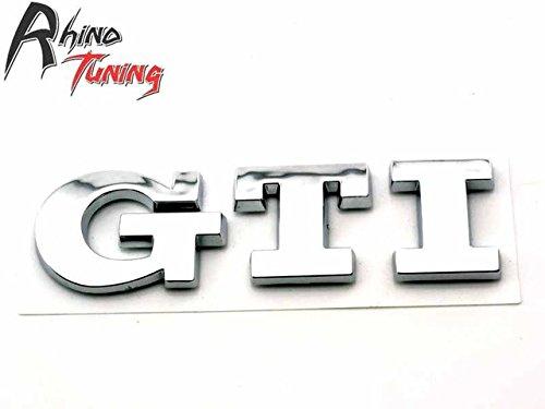 SPA Silver : Rhino Tuning Car Red GTI Emblem Golf Sticker for Golf Polo MK GTI Rear Boot Trunk Car Badge 498rd