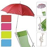 Garden Patio Balcony Beach Deck Chair Clip On Screw Clamp Umbrella Parasol UV Protection Sun Shade Rain Brolly (Green 147400)