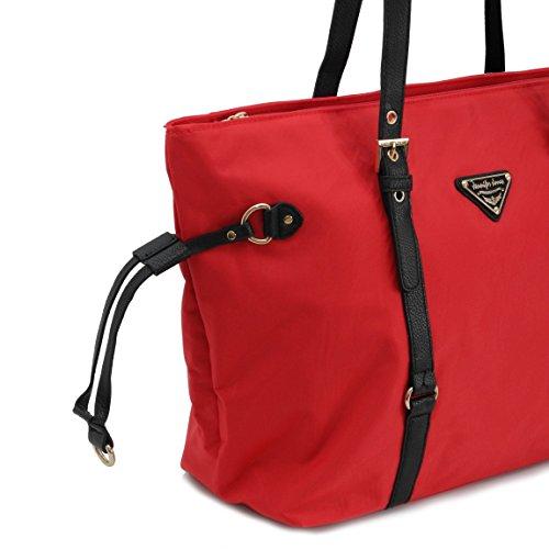 Jennifer Jones elegante borsa Shopper–Borsa da donna–präsentiert von ZMOKA, nero (nero) - 0 Valentinsrot