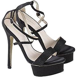 High Heels mit Plateauabsatz und Glitzereffekt von Poti Pati , Größe:40