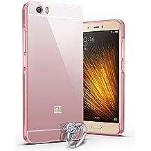 Funda Espejo Aluminio Metal Carcasa para Xiaomi MI5 Color Rosado