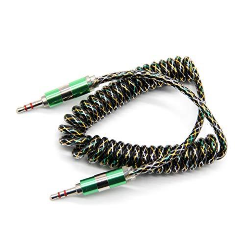 3,5 mm Stecker auf Stecker Kabel Transparent Frühling Coiled 3,5 mm Klinke-Auto-Lautsprecher-Erweiterung Musik Kopfhörer Line Aufrollbares Aux Cord fgyhty -
