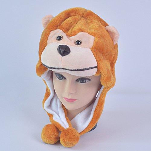 Qsoleil FUUNY Zubehör Cartoon Plüsch Tier Hut Kopfschmuck Winter Hut Hut Kopfschmuck Kostüm Karneval Kappe Kind Erwachsene Spielzeug (Farbe : Yellow ()