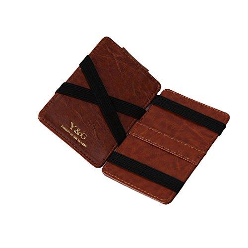 YCM010204 Cioccolato cuoio del raccoglitore magico con Card Holders Felice Per Pap¨¤ Con Gift Box da Y & G