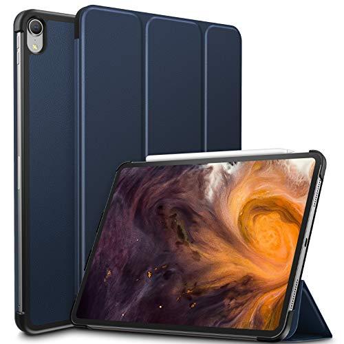 Infiland iPad Pro 11 Zoll 2018 Hülle Case, Slim Shell dünne Schutzhülle Cover Tasche für iPad Pro 11 Zoll 2018 (mit Auto Schlaf/Wach Funktion,Unterstützt Das Aufladen des Apple Pencil),Dunkleblau