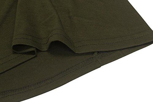 ASCHOEN - Robe - Dos nu - Manches Longues - Femme Armeegrün
