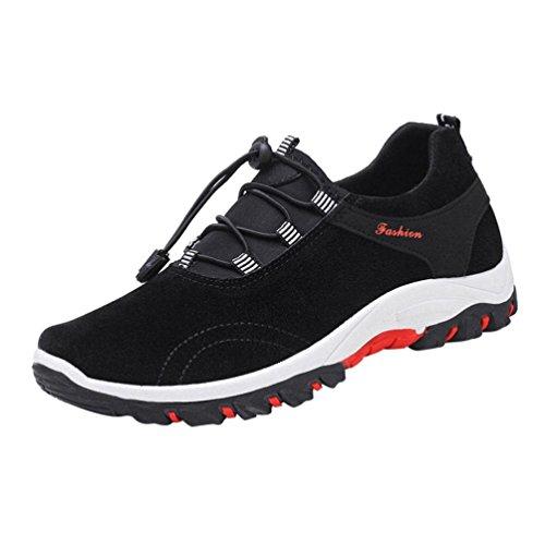 Sportschuhe Herren Outdoorschuhe Btruely Atmungsaktiv Sneaker Herbst Schnürschuh Plüsch Wanderschuhe Männer Fitnessschuhe Running Schuhe