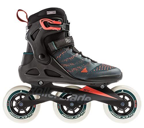 Rollerblade Unisex- Erwachsene MACROBLADE 110 3WD Inline-Skate, Teal Green/orange Burst, 275