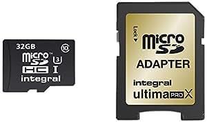 Integral INMSDH32G10-90/80U1 32GB MicroSDHC UHS-I Class 10 memory card - memory cards (MicroSDHC, Black, UHS-I, Class 10, SD)